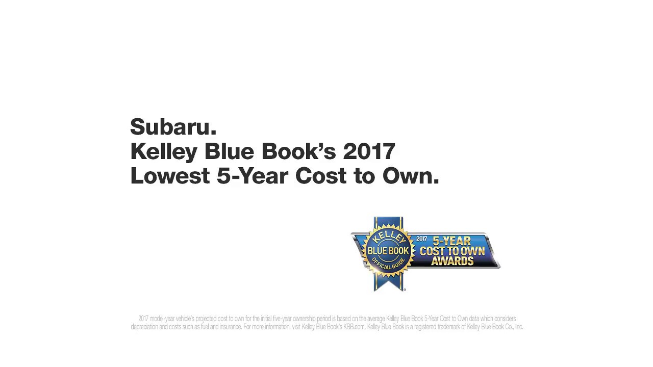 2017 Subaru Kelley Blue Book | Subaru Commercial | Investment ...