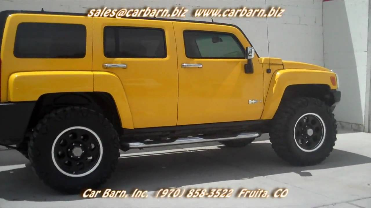 Sold 2006 hummer h3 lifted with 35 tires at car barn in fruita 2006 hummer h3 lifted with 35 tires at car barn in fruita co near grand junction youtube vanachro Image collections