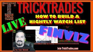 How to build stock market watch lists with TC2000 and Finviz (2018) Live Day Trading Webinar