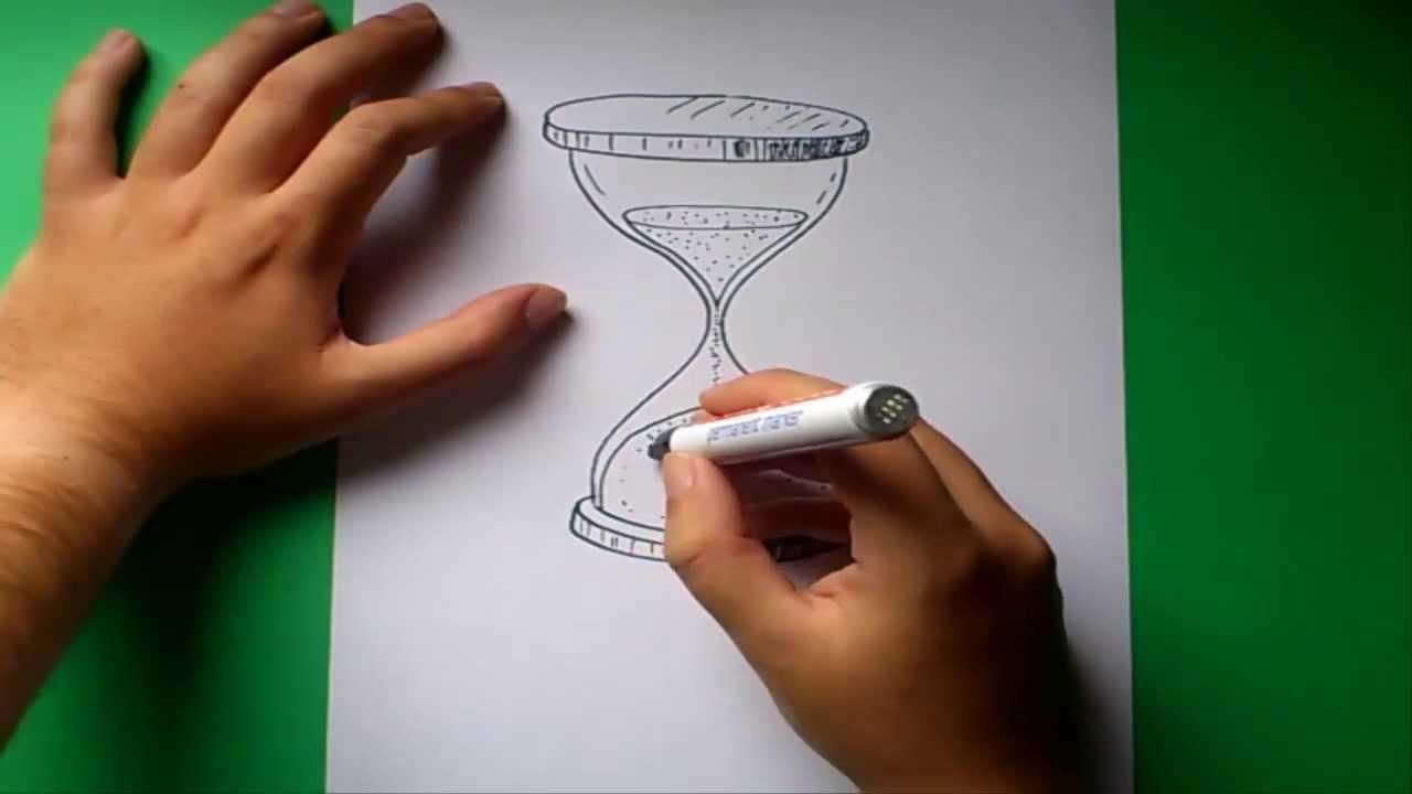 Como dibujar un reloj de arena paso a paso how to draw - Como hacer un reloj de pared ...