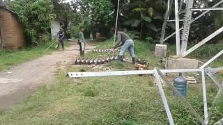 Pemasangan Insulator tower sutet mb52 bekasi
