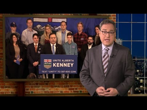 Media melts down during Jason Kenney's Alberta PC leadership announcment