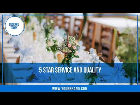 Wedding Catering Video Ad Template