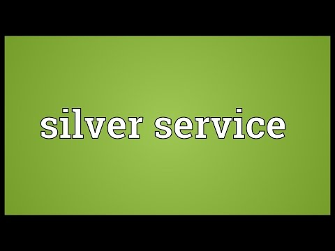 Silver service Meaning