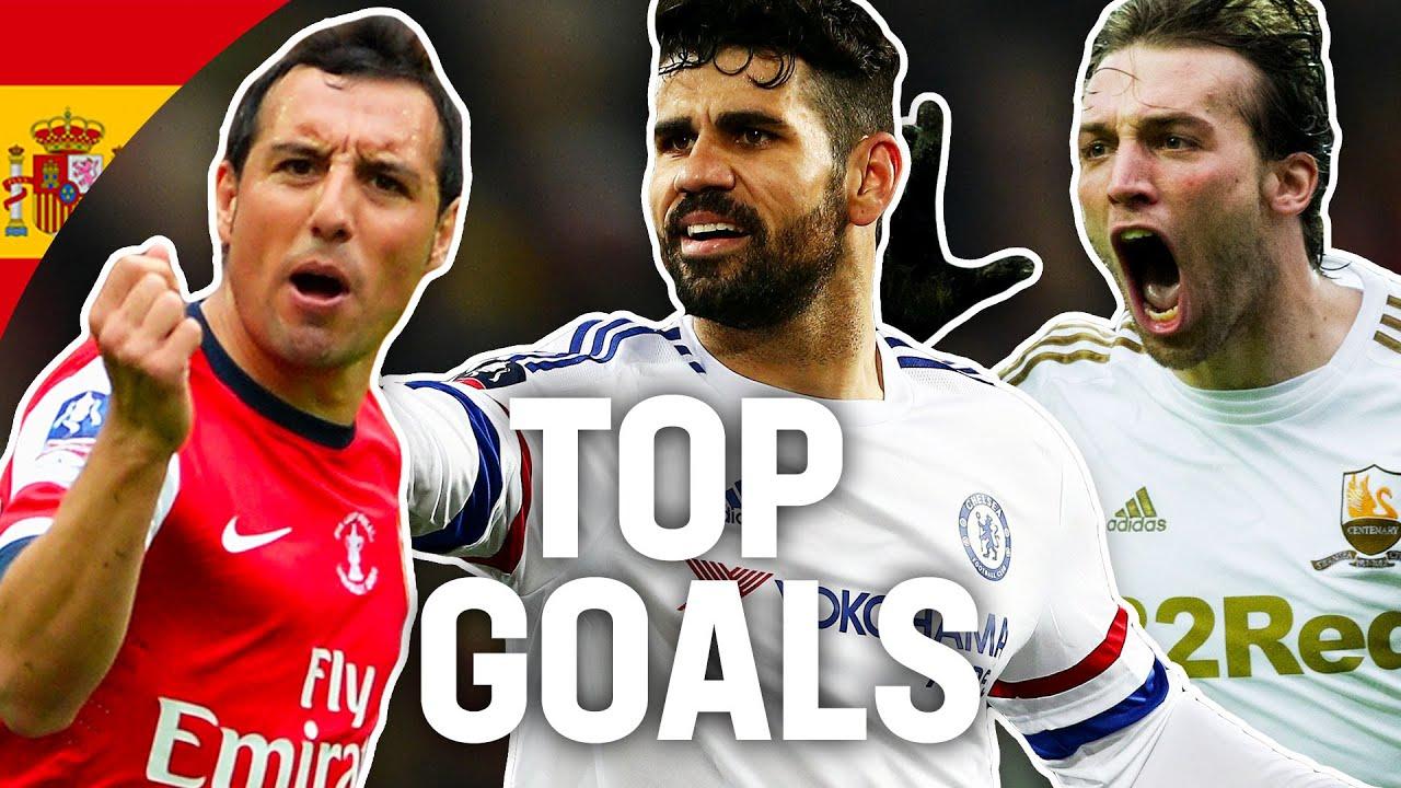 Breathtaking Goals by Spanish Players ???????? | Diego Costa, Cazorla, Silva, Mata | Emirates FA Cup