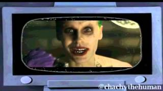 Cartoon Joker reacts to Jared Leto in Suicide Squad