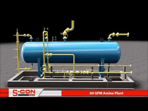 3-D Model of 60 GPM Amine Regeneration Plant