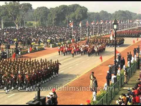 Grand parade on Republic Day at Rajpath in New Delhi, India
