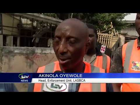 Download LASBCA Seals Buildings In Ajegunle