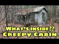 Kidnappers Hideout! ABANDONED Creepy Torture Cabin Bizarre Weird Scary Bloody clothes CRAZY OMG!!