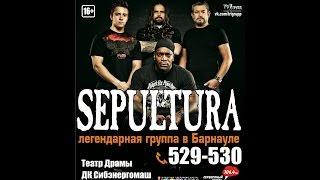 Sepultura в Барнауле - Territory (клуб Фараон 26.03.2015)