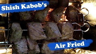 Power AirFryer Oven - Beef Shish Kabobs