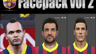 PES 2014 • Barça New Faces vol2 2048HD Texture ( Iniesta, Fabregas & Tello) | Download • HD Thumbnail