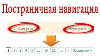 видео WP-PageNavi плагин удобной навигации