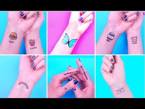 DIY TEMPORARY TATTOOS AT HOME! Fake Tattoos That Look Real COMPILATION!