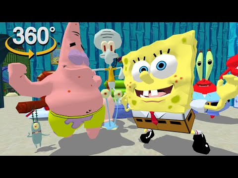 Spongebob Squarepants! - 360° Dance Party! - (The First 3D VR Game Experience!)