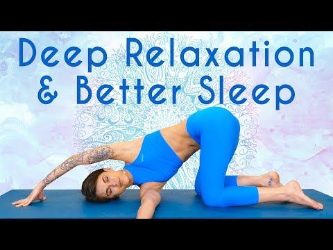 Gentle Yoga for Deep Relaxation & Sleep ♥ Self Care, Breathing & Meditat...