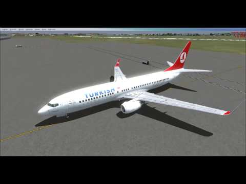 Turkish Airlines FSX Flight  [LTBA] Istanbul - Skopje [LWSK] - Missed approach