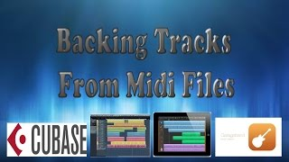 How To Make Backing Tracks From Midi Files
