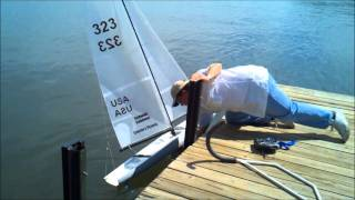 1.7 Meter R/C Sailboat Maiden Voyage at South Cove, SC (1080p)