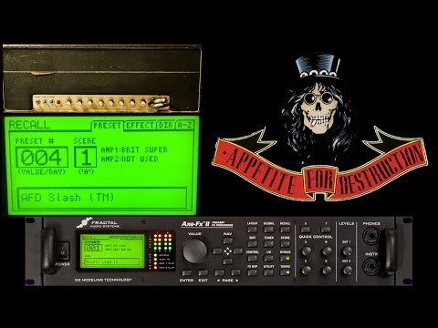 Axe Fx II Slash Tone Match – Appetite for Destruction (Guns N' Roses)