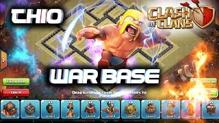 clash of clans-INCREDIBLE TH10 WAR BASE 275 WALLS SPEED-BUILD