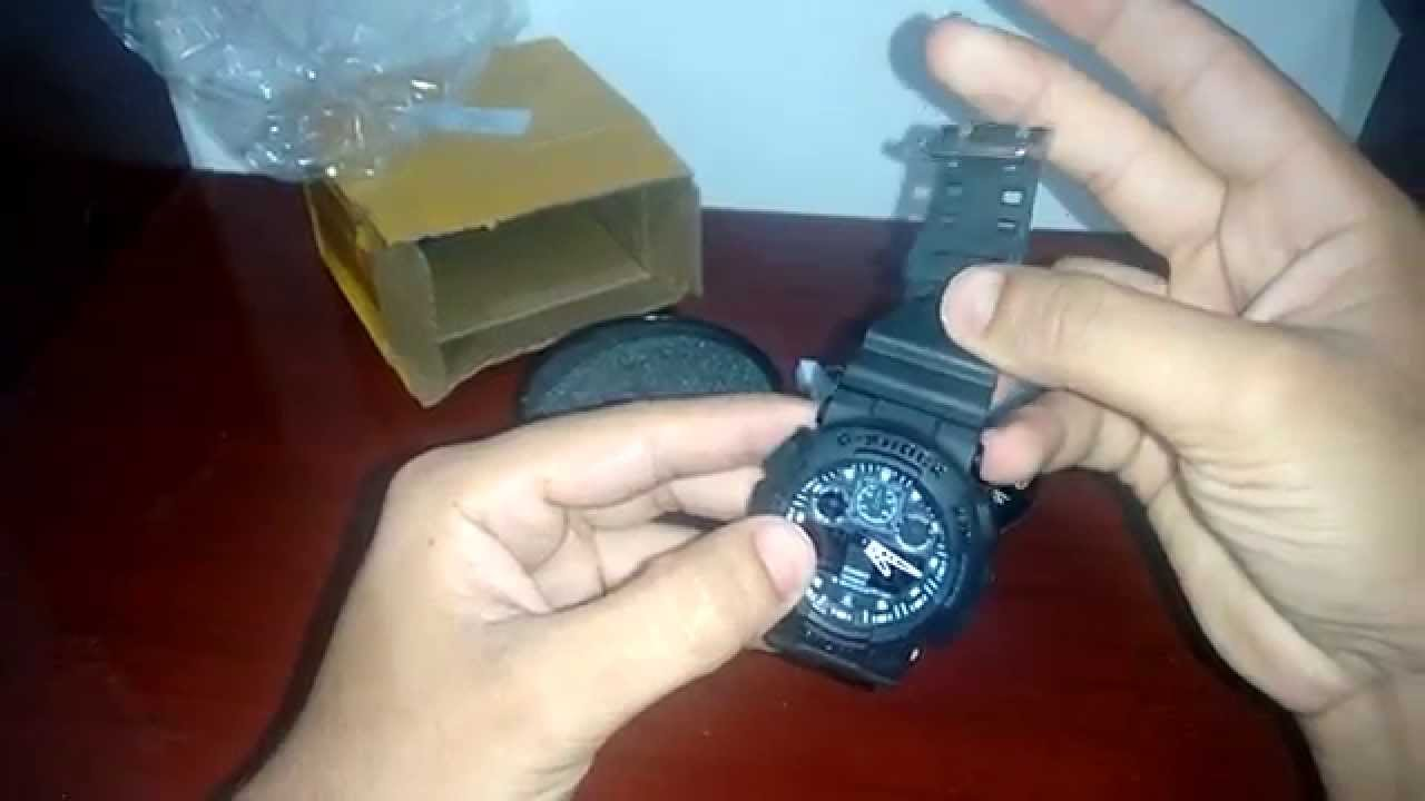 e94f6b4ee7c Unbox - Réplica do Relógio G-Shock GA 100 - YouTube