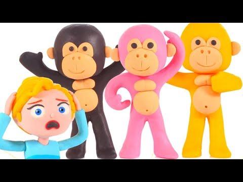 SUPERHERO BABIES IN MONKEY COSTUMES ❤ Superhero Babies Play Doh Cartoons For Kids