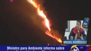 Ministro del Ambiente: Incendio en Waraira Repano (El Ávila) fue provocado