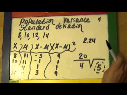 Population And Sample Variance And Standard Deviation