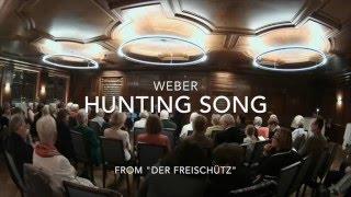 Weber: Hunting Song für Klarinettenquartett