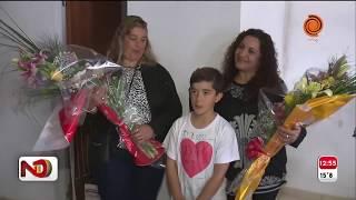 Día del maestro: Santi visitó a Carolina, la seño que le salvó la vida
