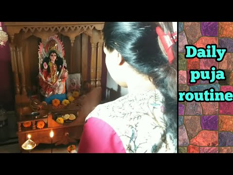 Daily puja at home   নিত্য পূজা    Bengali vlogger Kakali   
