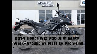 2014 Honda NC 700 X in Black with only 759 miles Walk Around by Nate @ Frontline