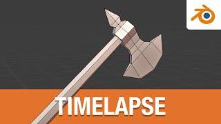 النمذجة انخفاض بولي سلاح الفأس في الخلاط (Timelapse)