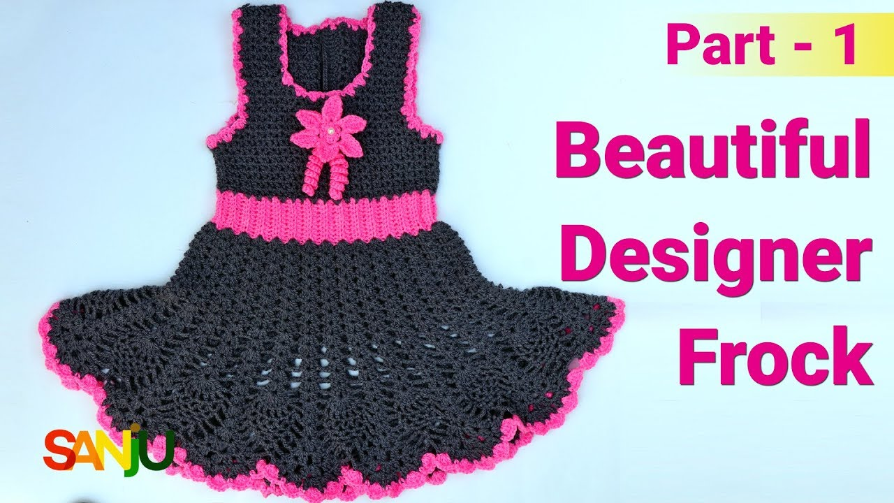 bf5140e29 Beautiful designer frock for 2-3 years baby girl   How to make top ...