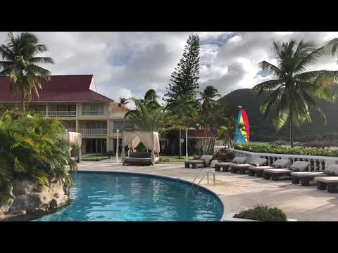 Royal St. Lucia Resort grounds (4K video)