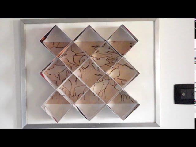 L'ukiyo-e ( immagine del mondo fluttuante), installazione anamorfica, esposizione Arte Sirmione.