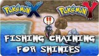 Pokemon X & Y: Fishing Chaining For Shiny Pokemon!