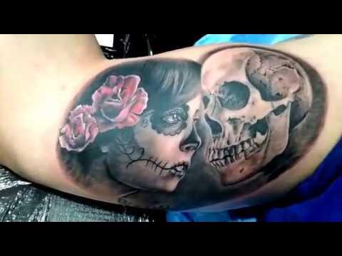 Tattoo Catrina Y Calavera Por Zalo Vivancos Youtube