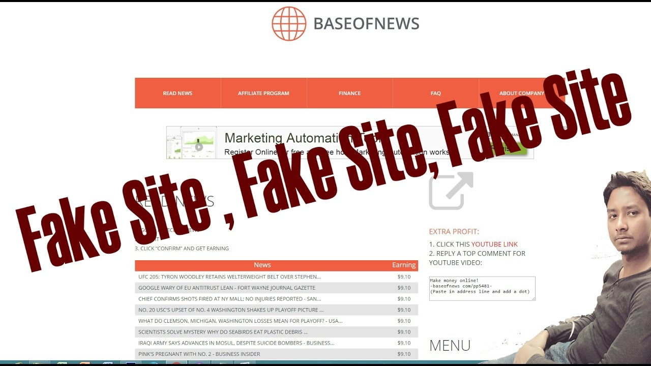 how to know if a site is fake