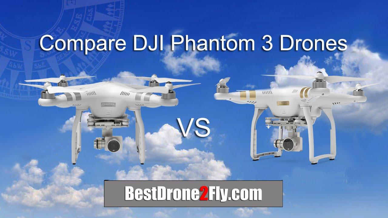 Compare DJI Phantom 3 Advanced Drone vs DJI Phantom 3 Professional Drone