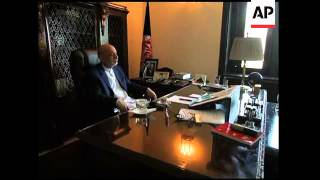 AP interview with President Hamid Karzai
