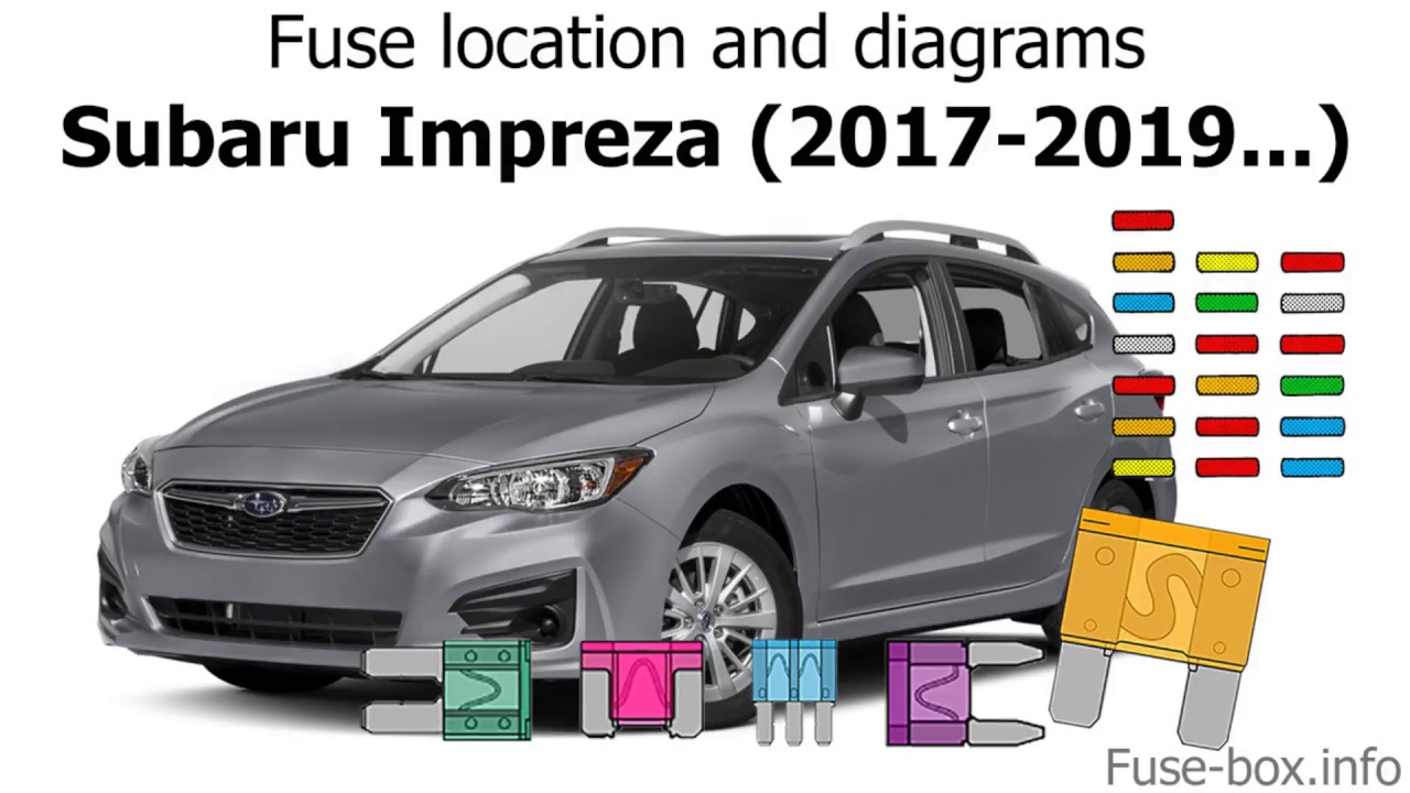 fuse box location and diagrams subaru impreza 2017 2019  [ 1280 x 720 Pixel ]