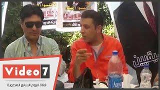 بالفيديو..محمد الحلو وزيزى والعيسوى يساندون مصطفى كامل فى انتخابات الموسيقيين