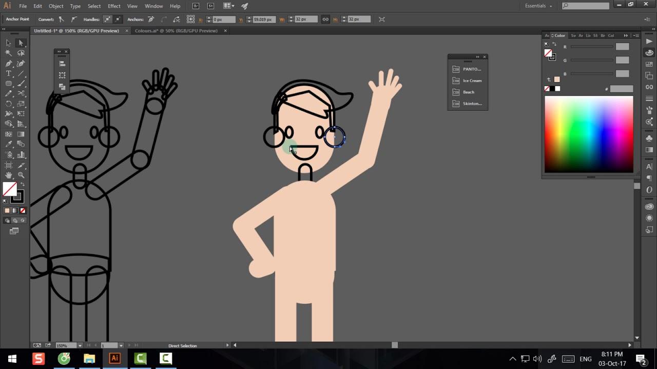 Adobe Illustrator – Bài 8 – Phần 1 – Hướng dẫn cách vẽ nhân vật