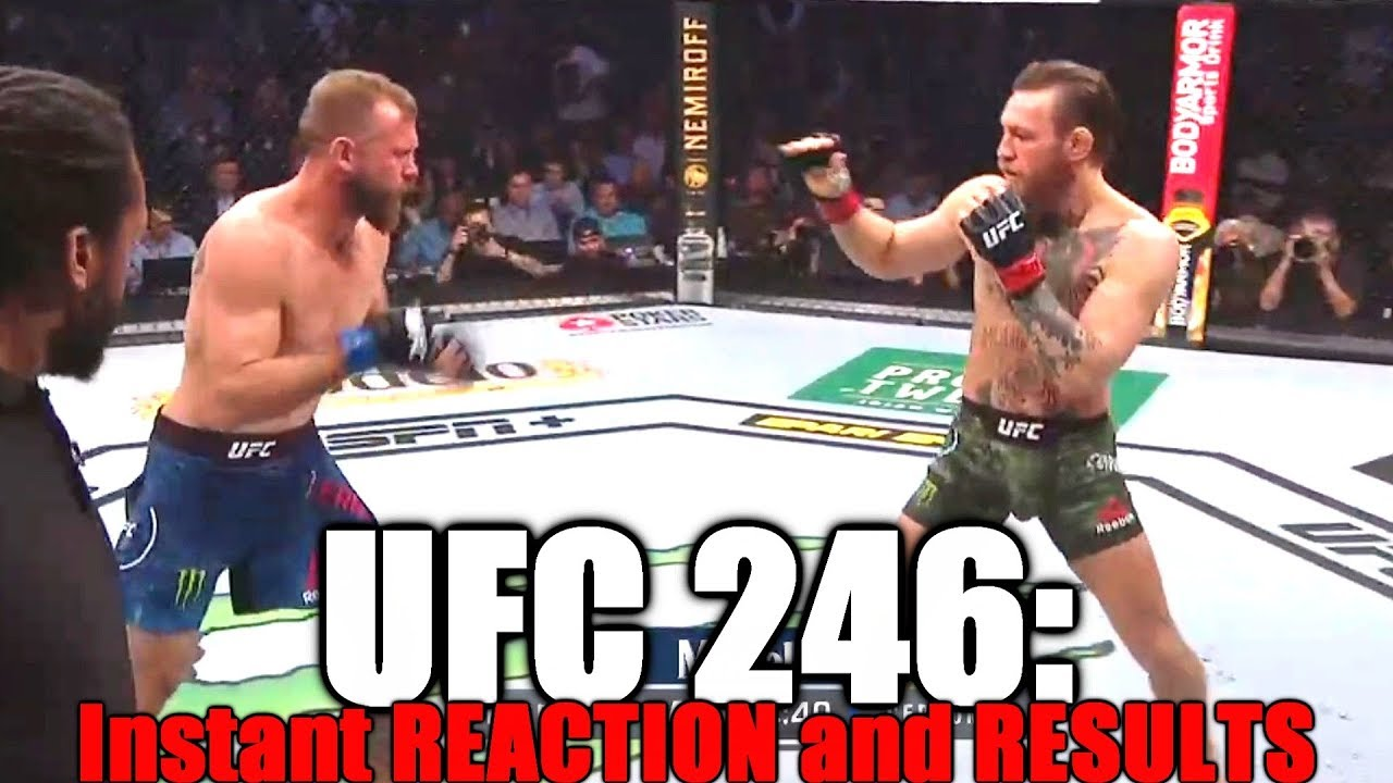 Ufc 246 Conor Mcgregor Vs Donald Cerrone Reaction And Results Mytub