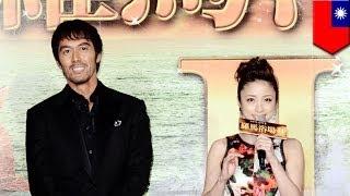 映画「テルマエ・ロマエII」の台湾プレミアが開催され、阿部寛と上戸...