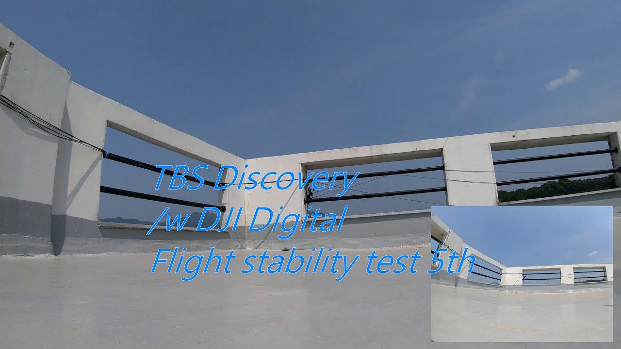 TBS Discovery /w DJI Digital FPV System Flight stability test 5th картинки