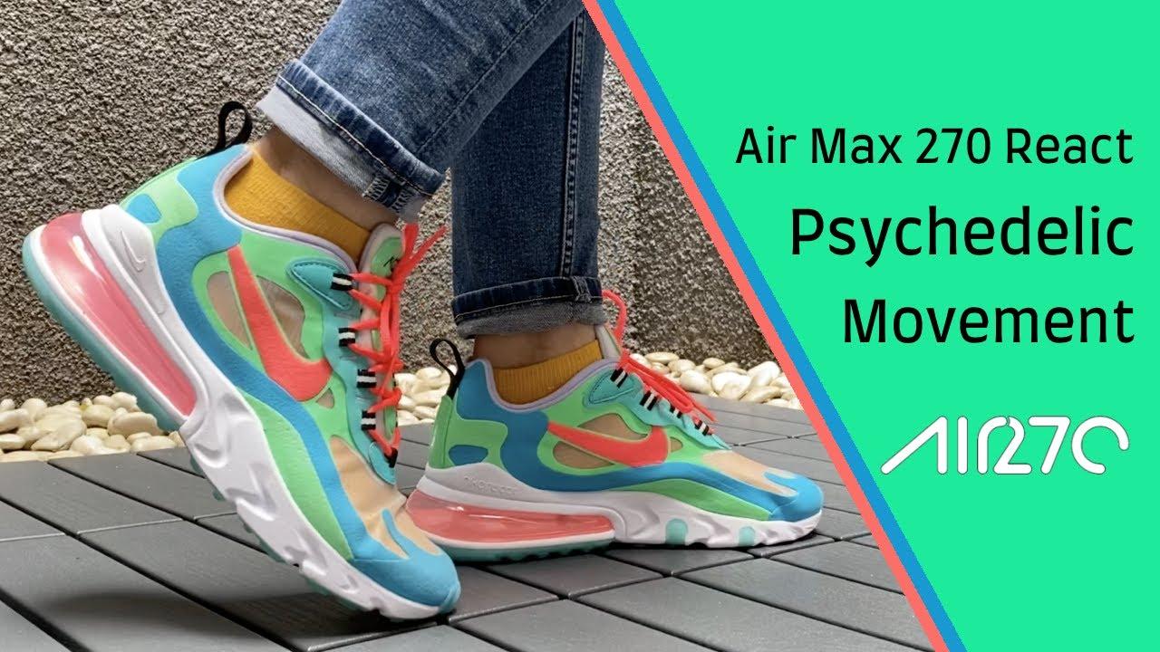 air max 270 react women on feet
